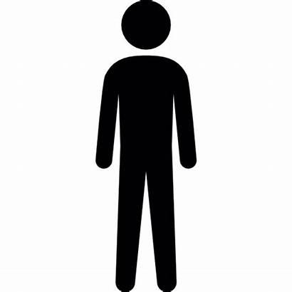 Manusia Siluet Tinggi Ikon Icon Gratis Human