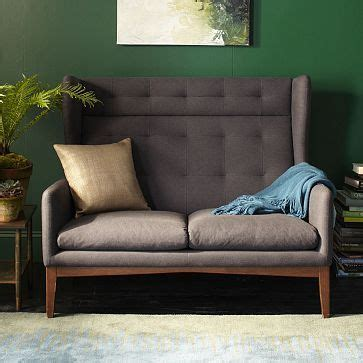 harrison settee harrison settee westelm this would be really