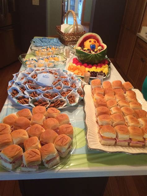 Feed The Baby Baby Shower - baby shower food on a budget sandwiches on hawaiian rolls