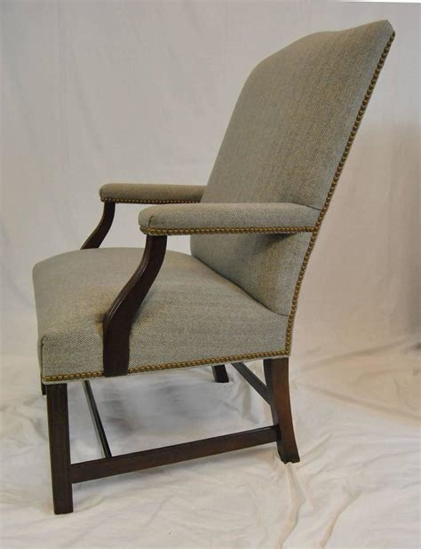pair of martha washington style armchairs by hancock and