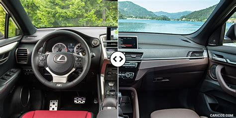 lexus nx  bmw  interior cockpit comparison