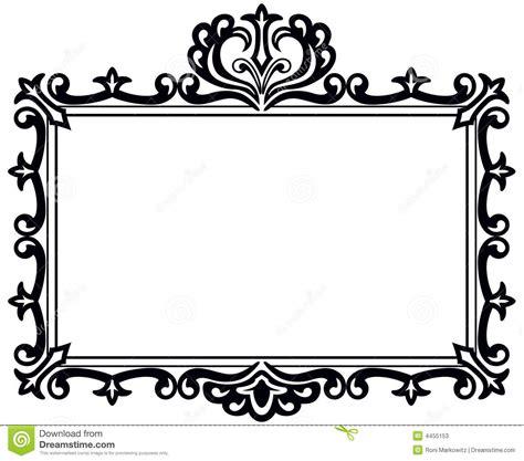hanging file frame black antique frame stock vector illustration of