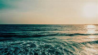 Ocean Horizon Sea Waves Water Widescreen Foam