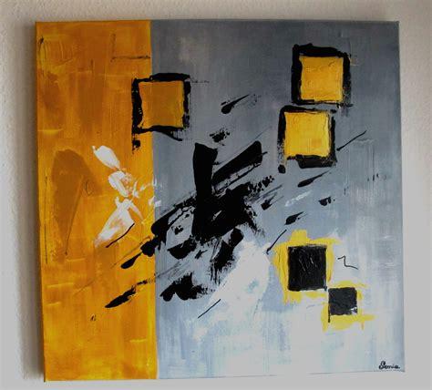 reserve tableau moderne contemporain gris noir jaune
