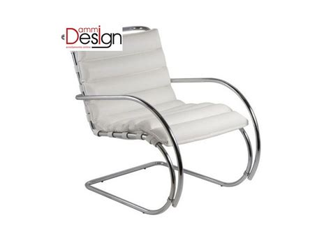 Poltrone Design Bauhaus : Poltrona Mies Van Der Rohe Con Braccioli