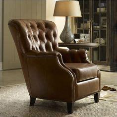 furniture seven seas leather tufted club chair in