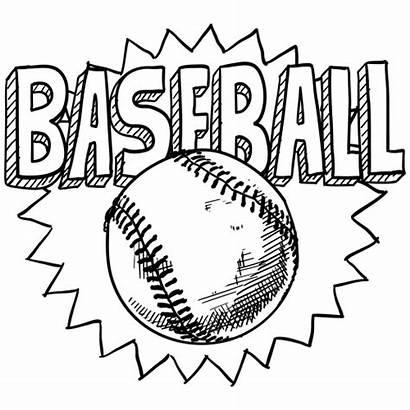 Coloring Baseball Pages Printable