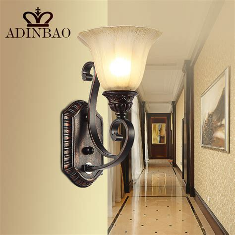 rustic iron wall sconce corridor led wall light outdoor