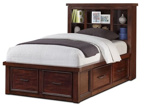 twin bookcase storage bed sonoma youth twin bookcase storage bed united furniture