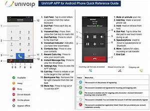 Univoip App For Android Smartphone Quick Reference Guide
