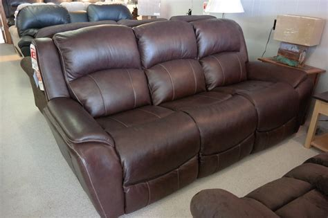lazy boy leather reclining sofa lazboy sofa it s more than recliners las la z boy opening