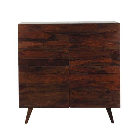 bureaux bois massif buffet haut vintage en bois de sheesham massif brun l 120