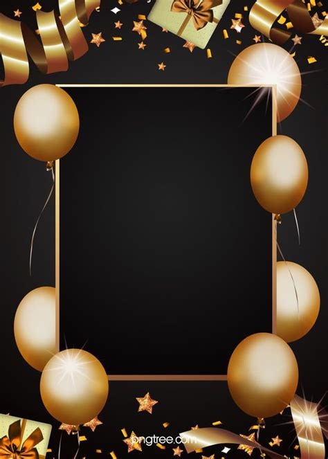 golden party decorations black background   party