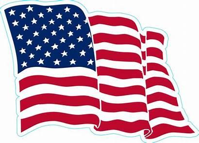 Flag Waving American Sticker Stickers Decals