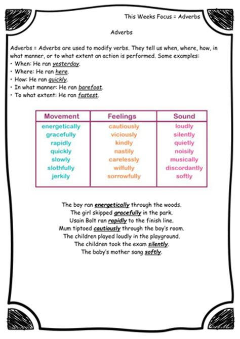 grammar and punctuation worksheets year focus guided