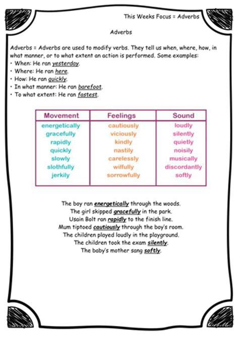 adverbs worksheet new curriculum grammar year 3 6