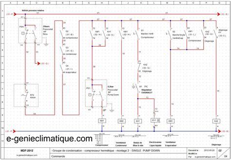 schema electrique chambre le génie climatique les équipements thermiques le froid