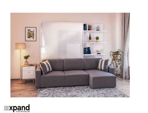 murphy bed with sofa clean murphysofa sectional wall bed expand furniture
