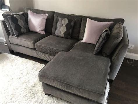 Grey Corduroy Sofa by Grey Corduroy Corner Sofa Brokeasshome