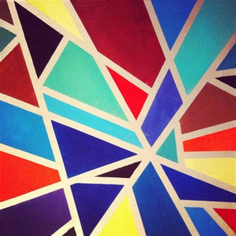 Abstract Painting Using Shapes by 40 Aesthetic Geometric Abstract Paintings Bored
