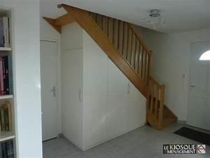 Aménagement Sous Escalier : rangements sous escalier le kiosque am nagement id es pour la maison pinterest salons ~ Preciouscoupons.com Idées de Décoration
