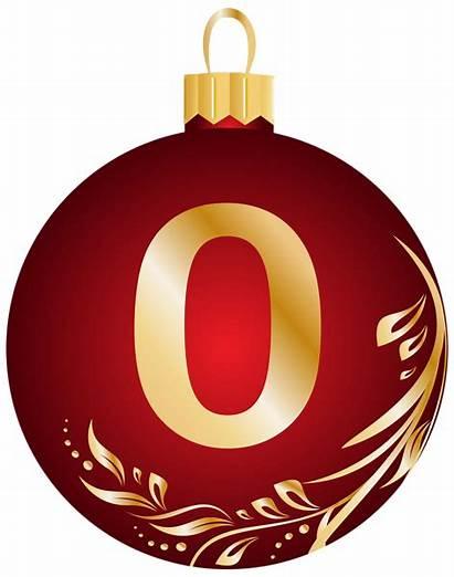 Christmas Ball Number Clip Clipart Zero Transparent