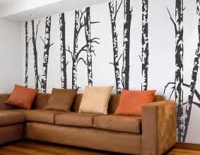 silver birch trees vinyl wall sticker contemporary wall stickers
