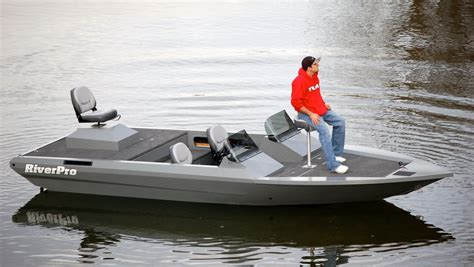 Used Aluminum River Jet Boats by Riverpro Boats 201 Lopro Welded Aluminum Fishing Boats