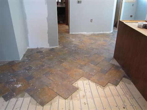 heated kitchen floor heated tile floor in kitchen warmup heating system 1599