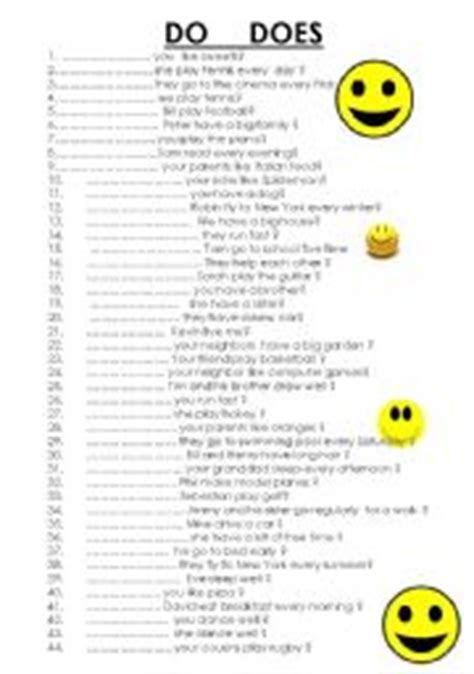 45 sentences with do does present simple