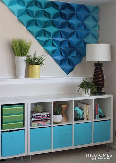 4/12pcs 3d wall panel decoration wall ceiling tiles. Renter-Friendly 3D Paper Wall Art | Origami wall art, Unique wall decor, Diy wall