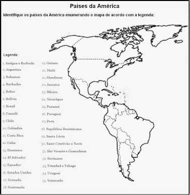 Mapa Do Continente Americano Para Imprimir E Colorir Imagui