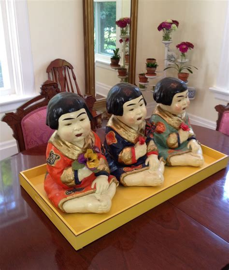 Antique asian chalkware dolls   Victoria Elizabeth Barnes