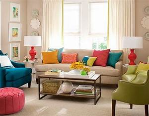 Useful ideas on how to decorate your living room for Colorful living room furniture