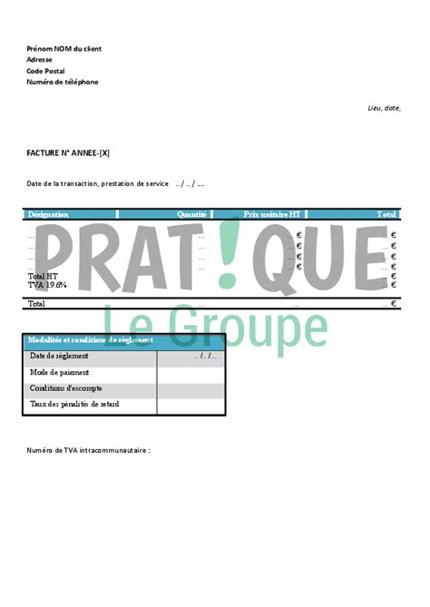 societe de menage bureau modele facture femme de menage document