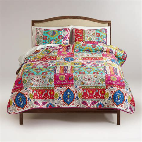 34398 world market bedding istanbul patchwork bedding collection world market