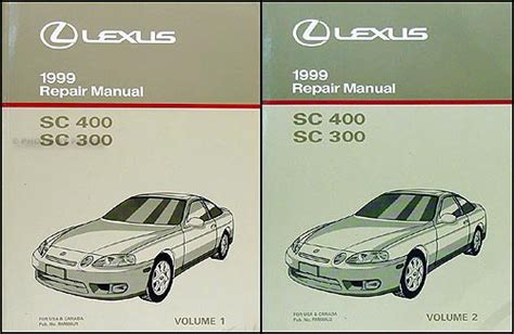 free car repair manuals 1999 lexus sc electronic toll collection search