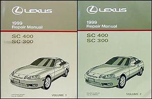 1999 Lexus Sc 300  400 Wiring Diagram Manual Original