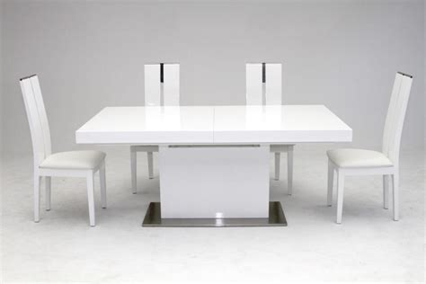 dining room modern white dining table design with