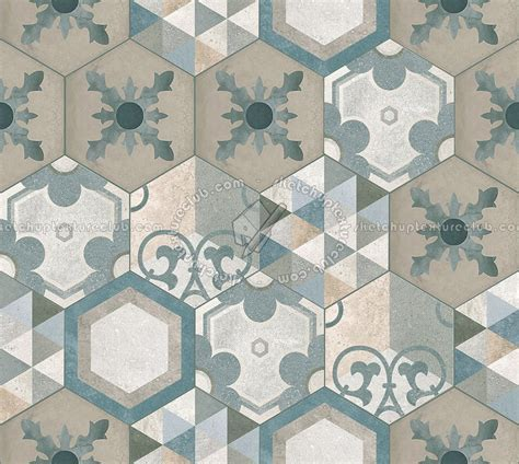 Hexagonal tile texture seamless 16874