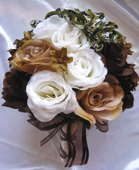 camoflauge weddings prices wedding bouquet bridal silk