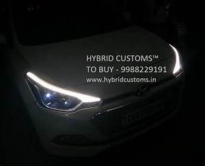 Hyundai I20 Elite Eyebrows Drl  Daytime Running Lights