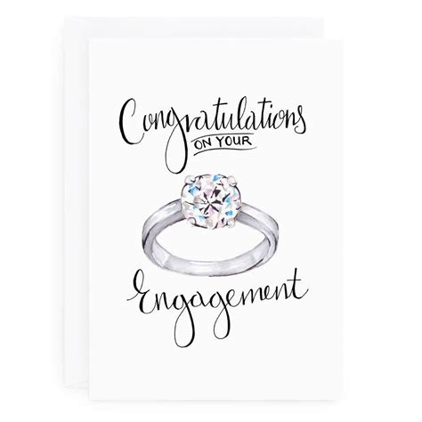 engagement card by de fraine design london
