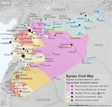 syrian civil war control map april  political