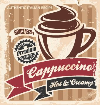 Unique coffee shop posters designed and sold by artists. Retro Coffee advertising posters vector 03 free download
