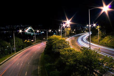 tasman bridge long exposure night photograph long
