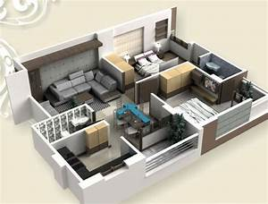 le plan maison d39un appartement une piece 50 idees With plan de maison 2 pieces 13 deco appartement marocain