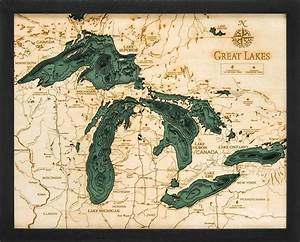 Cape Nautical Chart Woodchart Great Lakes Nautical Topographic Art