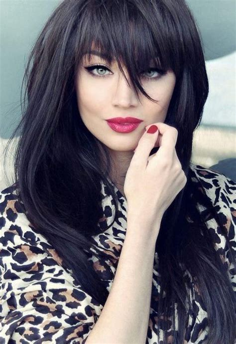 long dark hairstyles with bangs long dark hairstyles practical ideas when going out on a