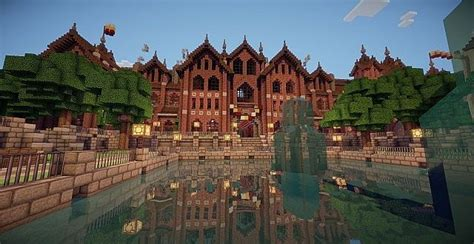 school minecraft building